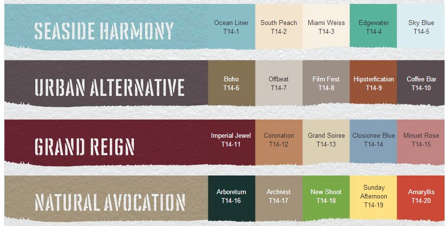 Behr.com 2014 Paint Colour Trends